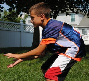 Flag Football Drills QB Receives Snap