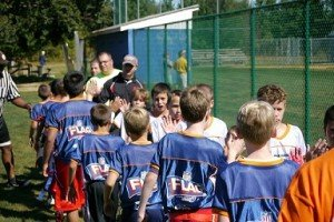 Youth Flag Football | Shaking Hands