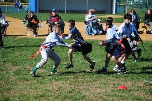 Youth Flag Football Run Up The Middle