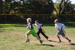 Youth Flag Football Touch Down Run