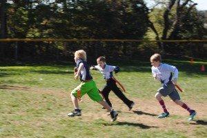 Youth Flag Football Touch Down Run